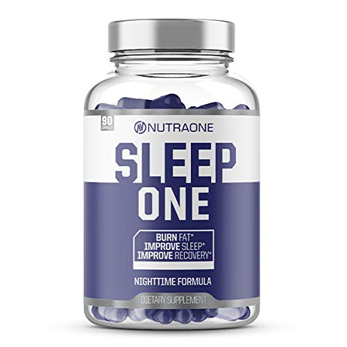 SleepOne Natural Sleep Aid Supplement by NutraOne   Promote Restful Sleep & Insomnia Relief While Supporting Night Time Weight Loss   Includes Melatonin, Valerian Root, Magnesium, L-Carnitine