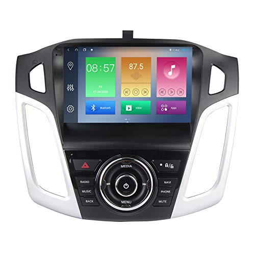 Android 10 Car Stereo Radio Player 9 inch Touch Screen GPS Navigation Built-in DSP BT WiFi Built-in Carplay Function Head Unit for Ford Focus 2012-2017