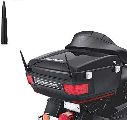2-Pack Short Whip Metal AM/FM/XM CB Antenna Bullet Mast for Harley Davidson