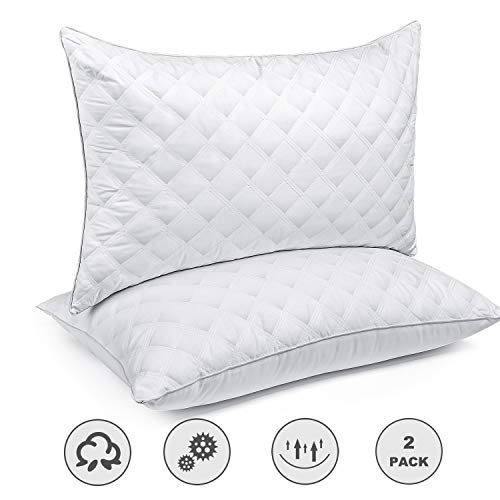 SORMAG Bed Pillows for Sleeping Set of 2, King Size 20 x 36 Inches, Luxury Hotel Collection Gel Pillows 2 Pack, Hypoallergenic Pillow for Side and Back Sleeper