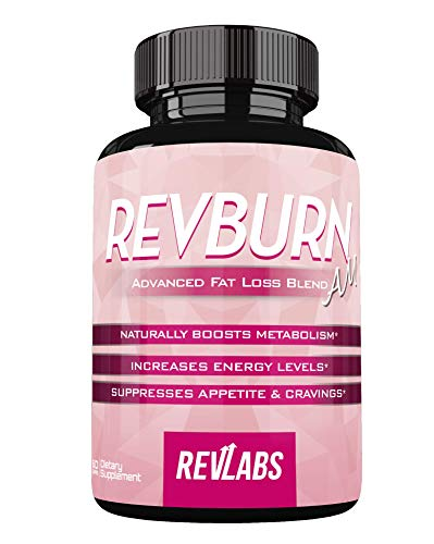 Rev Burn AM by Revlabs - Advanced Fat Loss Morning Blend - Increased Energy & Metabolism - Suppress Appetite & Cravings - 60 Capsules