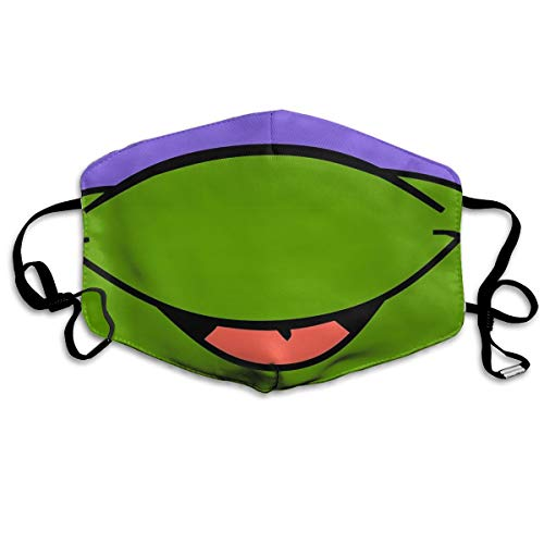 TMNT Donatello Face Face Masks Unisex Washable Reusable Mouth White