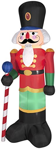 Gemmy LED Inflatable Nutcracker, 6.5-Feet, Red