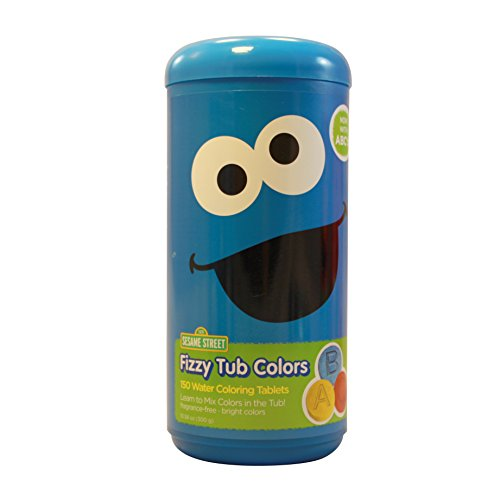 Sesame Street Fizzy tub Colors - Water Coloring Tablets 150 count (Cookie Monster)