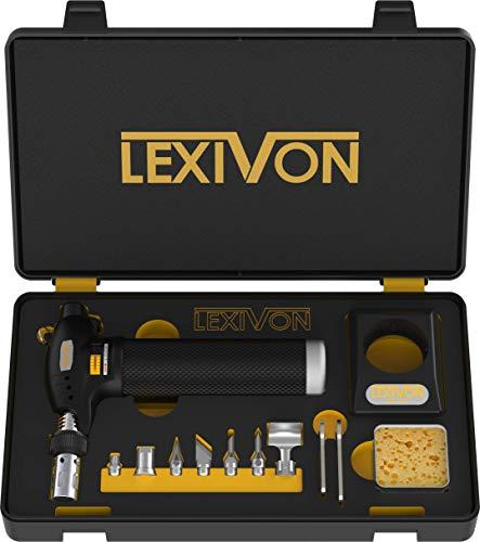 LEXIVON Butane Torch Multi-Function Kit | Premium Self-Igniting Soldering Station with Adjustable Flame | Pro Grade 125-Watt Equivalent (LX-771)