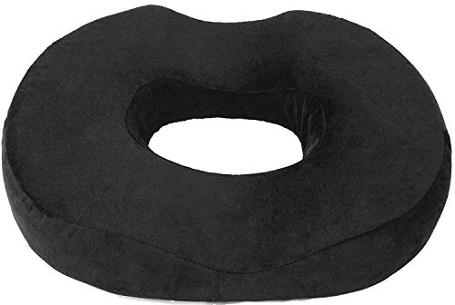 Donut Pillow Seat Cushion Orthopedic Design| Tailbone & Coccyx Memory Foam Pillow | Pain Relief for Hemorrhoid, Pregnancy Post Natal, Surgery, Sciatica and Relieves Tailbone Pressure by Pillow Palace