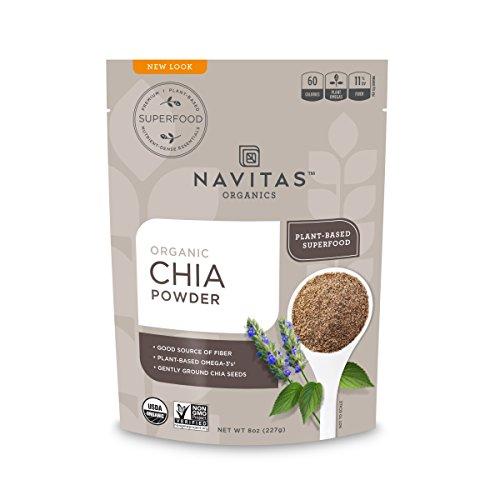 Navitas Organics Chia Seed Powder Bag, 8 Ounce