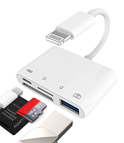 Camera Micro SD TF Memory Card Reader Lightning Male to USB3.0 Female Adapter OTG Cable for Apple iPhone 11 12 Mini max pro xs xr x se2 7 8plus Ipad air A Connector Flash Stick Drive Splitter