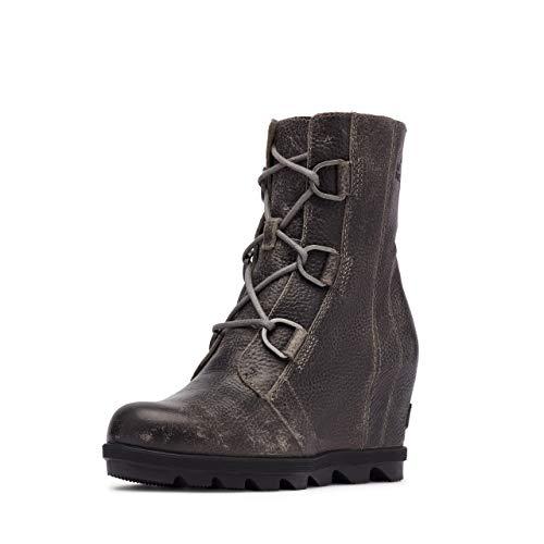 Sorel Women's Joan of Arctic Wedge II Boots, Quarry Leather, 7.5 M US