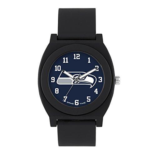 NFL Seattle Seahawks Mens Fan Series Wrist Watch, Black, One Size