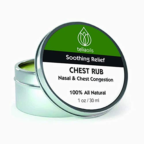 Chest Rub Salve for Cold & Seasonal discomforts - Natural & Soothing Cough Suppressant, Nasal Decongestant Ointment, Congestion Relief - Beeswax & Echinacea Cream for Chronic Dry Cough - 30ml