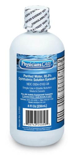 First Aid Only 24-050 Eye Wash Solution, 8 oz Bottles (Case of 12)
