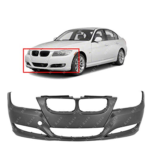 BUMPERS THAT DELIVER - Primered, Front Bumper Cover Fascia for 2009-2012 BMW 3 Series Sedan/Wagon 09-12, BM1000212