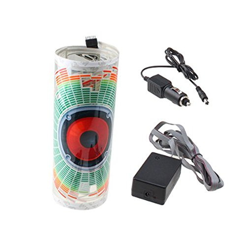 iNewcow Auto Music Rhythm Lamp Sound Voice Beat Glow LED Light Car Activated Equalizer Stickers 9025CM