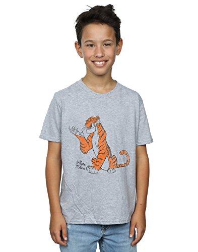Disney Boys The Jungle Book Classic Shere Khan T-Shirt 5-6 Years Sport Grey