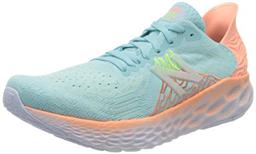 New Balance Women's Fresh Foam 1080 V10 Running Shoe, Bali Blue/Ginger Pink, 8 M US