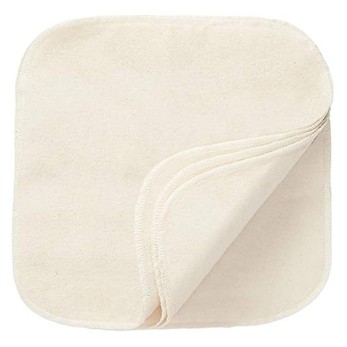 Reusable Natural Cotton Cleansing Cloths - 12ct - Makeup Remover - Made in USA