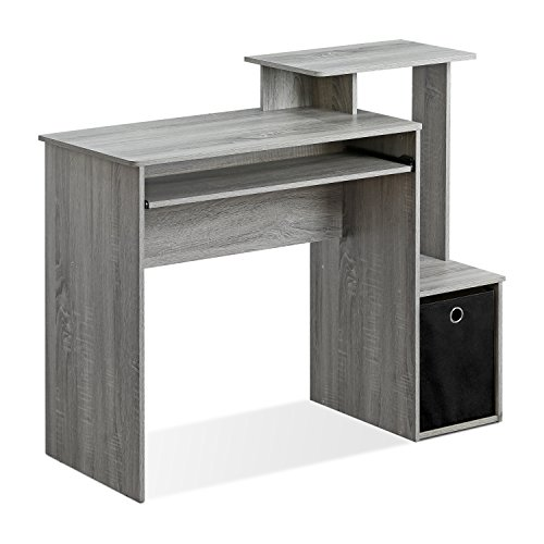 FURINNO Econ Multipurpose Home Office Computer Writing Desk, French Oak Grey