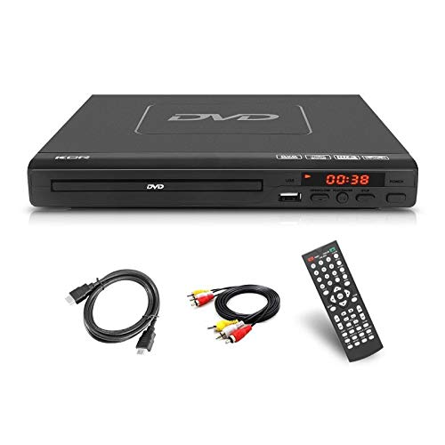 225mm DVD Player,Compatible with DVD/CD/MP3 Disc Player with Remote Control,USB Port Support HDMI Output Black Color(Non blueray)