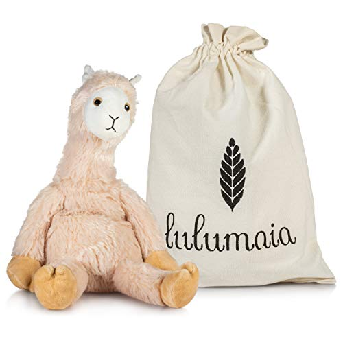 Lulumaia Llama Heating Pad for Cramps - Microwavable Heating Pad for Menstrual Cramps in Llama Stuffed Animal Plush Relief Your Neck, Stomach, Back Pain. Comes in a Cute Canvas Bag