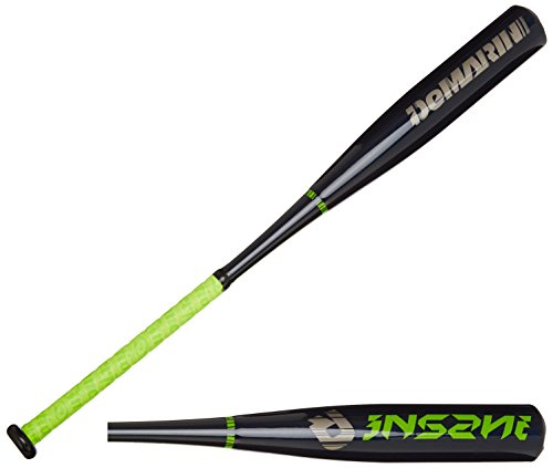 DeMarini 2015 Youth Insane Big Barrel Baseball Bat, 30-Inch/21-Ounce, Black/Green