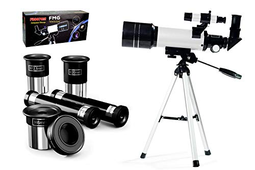 Portable Kids Telescope with Tripod and Eye Pieces, Finder Scope and Moon Mirror, Travel Telescope for Kids & Beginners, Best Price Telescope for Kids and Beginners,White Colour