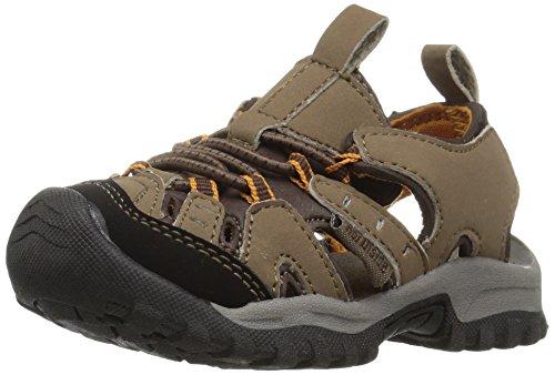 Northside Unisex-Child Burke II Athletic Sandal, Medium Brown/Orange, 7 Toddler