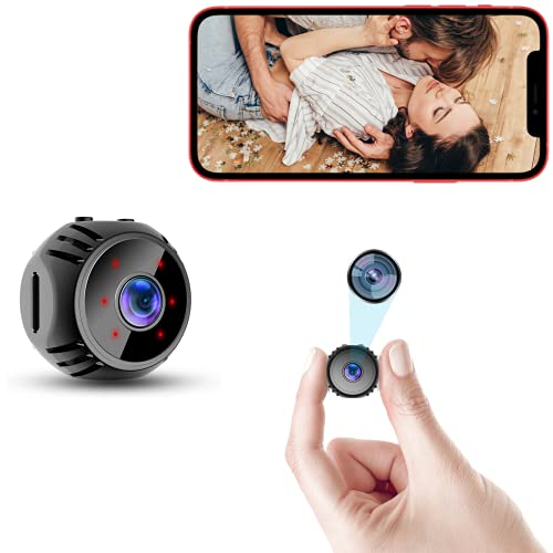 Mini Spy Camera WiFi Small Wireless Nanny Cam Home Security Surveillance Baby Monitor Indoor Video Recorder with Live Feed Phone APP Remote View Night Vision Motion Detection