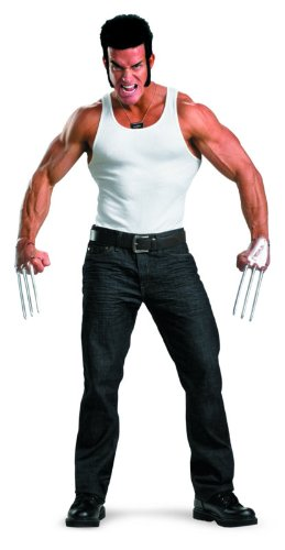 Disguise Marvel The Wolverine Adult Costume Kit with Accessories, Brown/Silver, One Size Adult