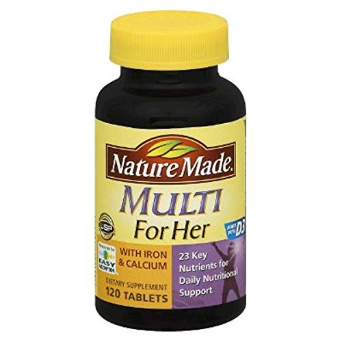 Nature Made Womens Multivitamin w/Iron & Calcium Dietary Supplement Tablets - 120ct
