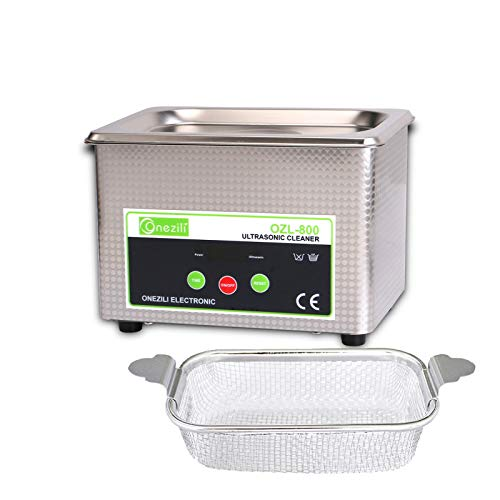 Professional Ultrasonic Cleaner, Smart Ultrasonic Jewelry Cleaner Machine with Timer Digital for Cleaning Jewelry Eyeglasses Tools Watches Dentures Circuit Board Guns Parts