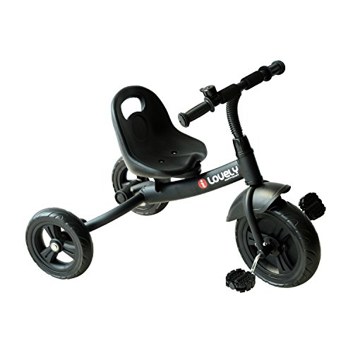 Qaba 3-Wheel Recreation Ride-On Toddler Tricycle With Bell Indoor / Outdoor - Black