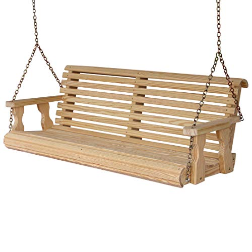 Amish Heavy Duty 800 Lb Roll Back 5ft. Treated Porch Swing