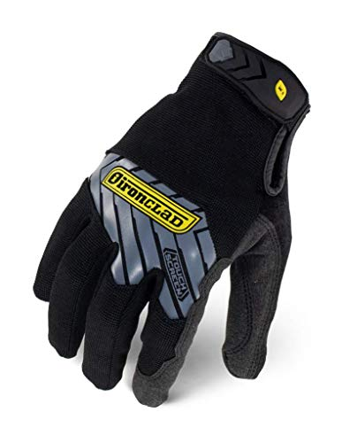 IRONCLAD Command Pro Work Gloves; Touch Screen Gloves Conductive Palm and Fingers, All-Purpose, Performance Fit, Machine Washable, Sized S, M, L, XL, XXL (1 Pair) (Medium, Black)