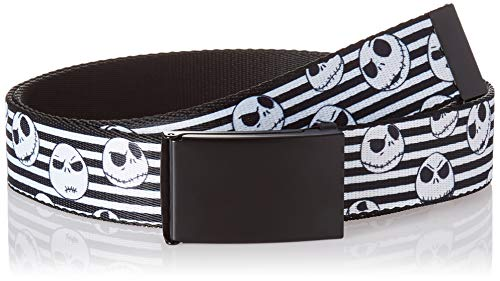 Buckle-Down Men's Web Belt Nightmare Before Christmas, Multicolor, 1.5' Wide-Fits up to 42' Pant Size