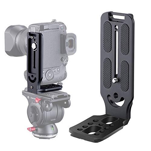 DSLR Camera L Bracket Vertical Horizontal Switching Tripod Head Quick Release Plate Arca Swiss Compatible with Digital DSLR Camera Stabilizer Tripod Monopod Canon Nikon Sony DJI Osmo Ronin Zhiyun