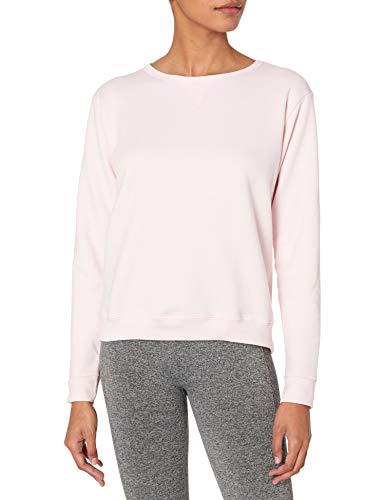 Hanes Women's V-Notch Pullover Fleece Sweatshirt, Pale Pink, S
