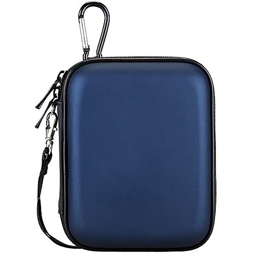 Lacdo Hard Drive Carrying Case for Seagate Backup Plus Slim, Seagate Expansion Seagate Game Drive for Xbox Portable External Hard Drive 1TB 2TB 4TB 5TB USB 3.0 2.5 inch HDD Waterproof Travel Bag, Blue