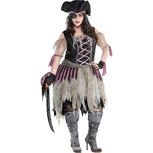 Amscan 848278 Adult Haunted Pirate Wench Costume - Plus XXL (18-20)1 set