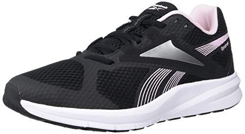 Reebok Women's Endless Road 2.0 Running Shoe, Black/White/Pixel Pink, 8 M US