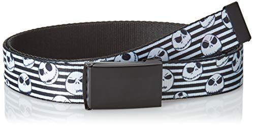 Buckle-Down Men's Web Belt Nightmare Before Christmas, Multicolor, 1.25' Wide-Fits up to 42' Pant Size