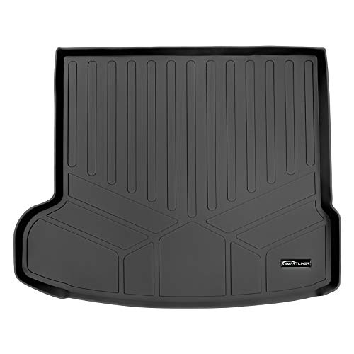 SMARTLINER All Weather Custom Fit Cargo Trunk Liner Floor Mat Black for 2017-2020 Jaguar F-Pace / 2018-2020 Range Rover Velar