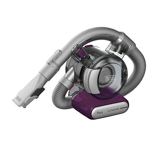 BLACK+DECKER Flex Handheld Cordless Vacuum, Eggplant (HFVB320J27), Modern