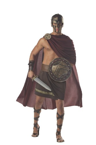 California Costumes Men's Spartan Warrior,Brown,X-Large Costume