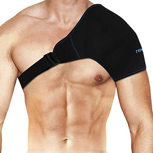 NEWGOShoulder Ice Pack Rotator Cuff Cold Therapy, Reusable Ice Pack Wrap Shoulder Cold Pack with Extender Strap for Injuries, Pain after Surgery, Inflammation - 19.7' X 9.3'