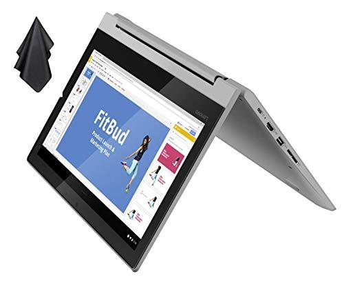 2021 Newest Lenovo Flex 3 2-in-1 Convertible Chromebook, 11.6' HD Touchscreen, MediaTek MT8173C CPU, 4GB RAM, 32GB eMMC, PowerVR Graphics, Dolby Audio, HD Webcam, Chrome OS, Grey + Oydisen Cloth