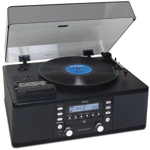 Teac LP-R550USBB CD Recorder with Cassette and Turntable (Black) (LPR550USBB)