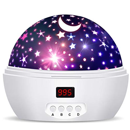 Star Sky Night Lamp for Kids Gifts for 3 4 5 6-12 Year Old Girls Baby Starry Night Light Projector Glow in The Dark Stars Dream Rotating Projection Lamp Ceiling