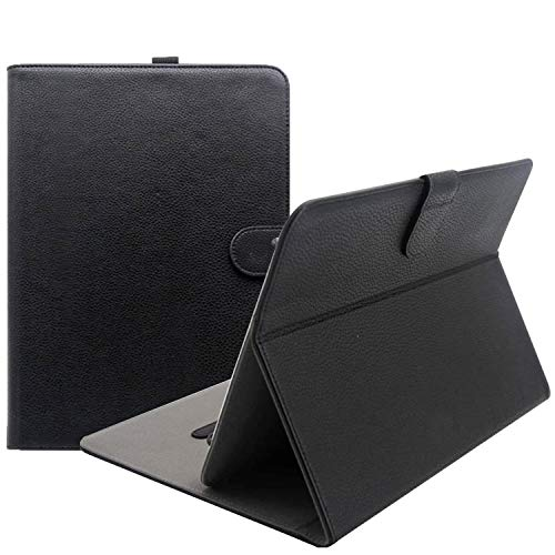 ProCase Universal Folio Case for 9 - 10 inch Tablet, Leather Stand Protective Case Cover for 9' 10.1' Touchscreen Tablet with Multi-Angle Stand (Black)