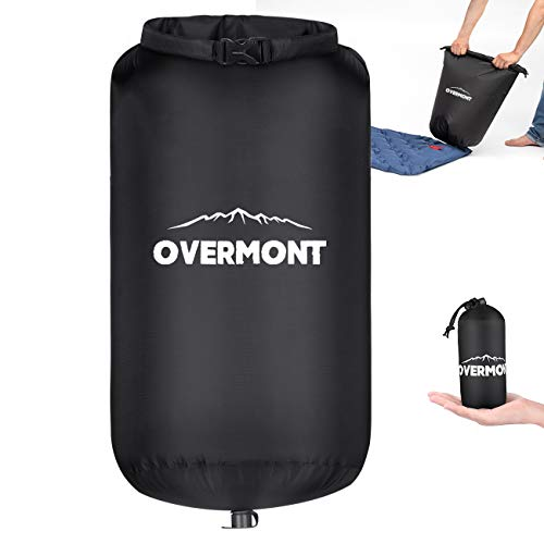 Overmont 60L Ultralight Air Pump Sack 18.9 x 27.6 Inches for Sleeping Pad Multi-use Waterproof Dry Bag Stuff Sack Backpacking